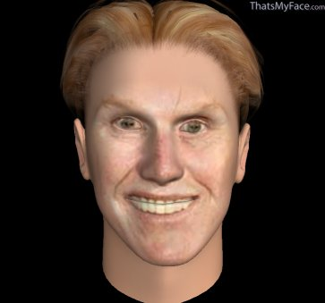 Thumbnail of Gary Busey as 3D Face