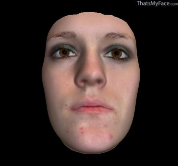Thumbnail of Dragon Draka Lady Wolf as 3D Face