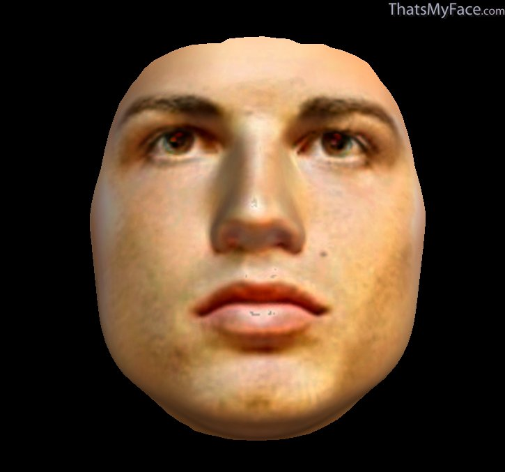 3D Face of CR7's face from above submitted images
