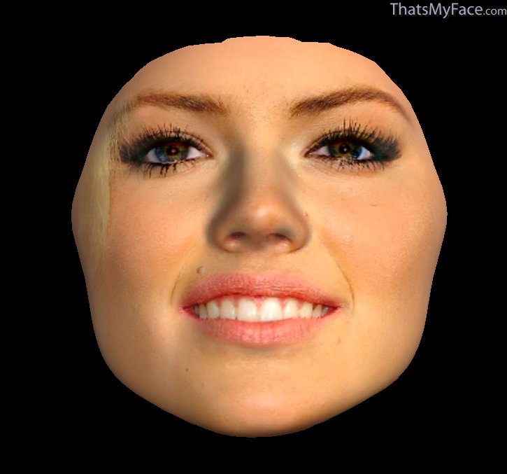 3D Face of Kate Upton'...
