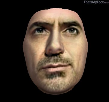 Thumbnail of Sherlock Holmes as 3D Face