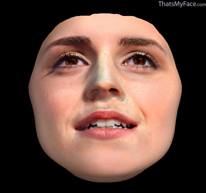 Emma Watson Face Shape. 3D Face of Emma Watson#39;s face