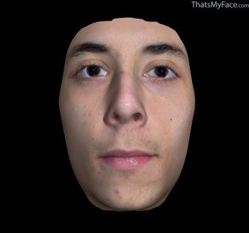 Thumbnail of Manuel as 3D Face