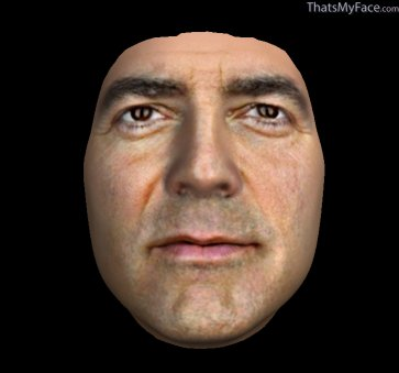 Thumbnail of George Clooney as 3D Face