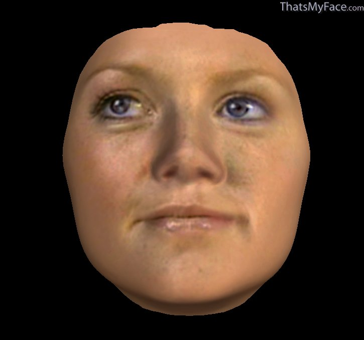 3D Face of Hannah Spea...