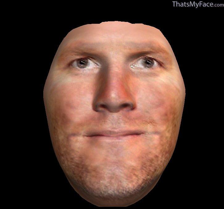 Brett Favre 3D Face | ThatsMyFace