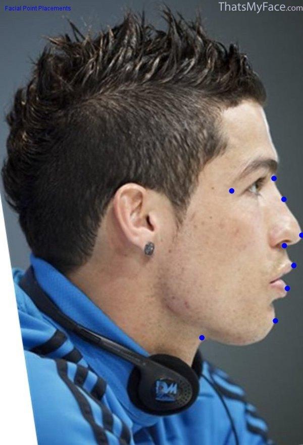 Cristiano Ronaldo Side Face