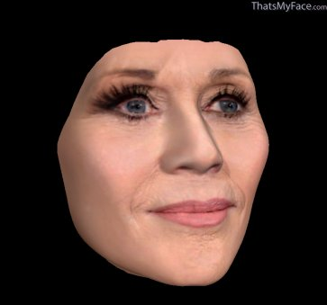 Thumbnail of reconstruction of Jane Fonda