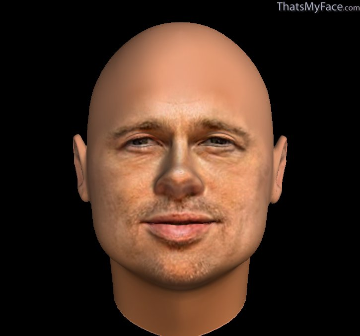 brad pitt caricature. traits of Brad Pitt ( The