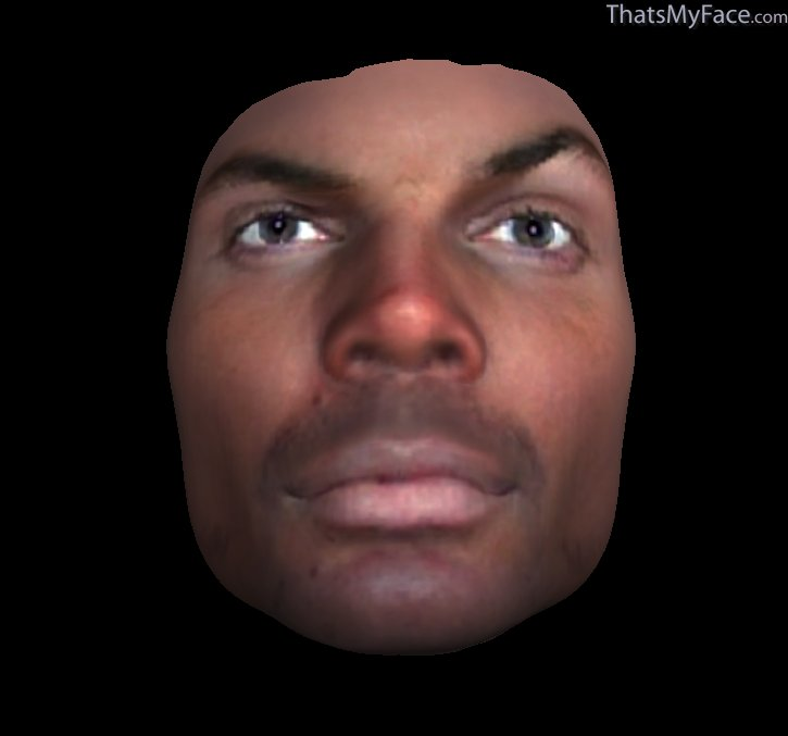 African Simulation of Jeff Hardy 2's face